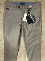 "TED BAKER BEIGE ""BUGGLES"" SLIM FIT TROUSERS PANTS CHINOS - 28R - NEW & TAGS"