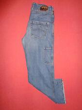Designer AJ Armani P05 - W33 L34 - Button-Fly - Mens Blue Denim Jeans - K379*
