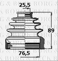 BCB6125 BORG & BECK CV JOINT BOOT KIT [Front Axle inner] fits Nissan Qashqai 06-