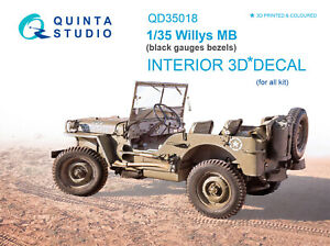 Quinta QD35018 1/35 Willys MB 3D-Printed & coloured Interior (for all kit)