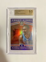 Russell Westbrook BGS 9.5 2017-18 Donruss Optic Court Kings #30 PURPLE Thunder