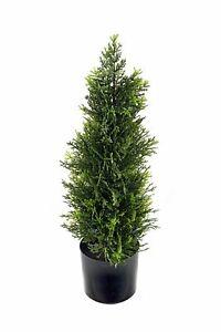 Artificial Cedar Topiary 58cm Tree Plant Realistic Foliage Potted Indoor Outdoor