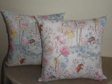 Fairy Fairies Flowers Pink Blue White Girl Cushion Cover 45cm 2 colours Au made