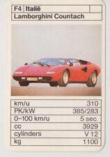 Kwartet kaart / Quartet Card / Spielkarte Cars Lamborghini Countach