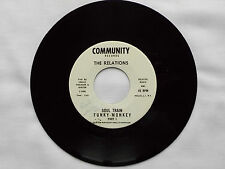 """The RELATIONS Funky monkey Pt.1 & Pt.2 - USA PROMO 7"""" 45 COMMUNITY Rds (1972) EX"""