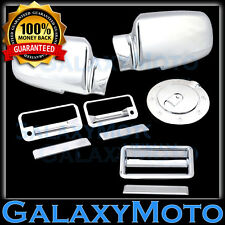 88-98 GMC C1500+C2500+C3500 Chrome Mirror+2 Door Handle+Tailgate+Gas Tank Cover
