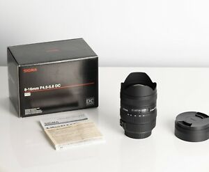 Sigma 8-16mm F4.5-5.6 DC HSM Crop Lens for Canon EF Mount in Excellent condition