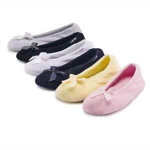 isotoner Terry Ballerina Slippers