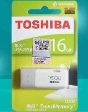 Toshiba 16GB Memory Stick USB 2.0 Flash Drive THNU08HAY BLANCO THN-U202W0160E4