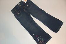 Gymboree Pups and Kisses Blue Jeans Adjustable Waist Girls Size 12 Heart NWT NEW