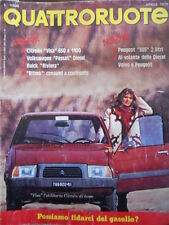 Quattroruote 281 1979 Citroen Visa 650 e 1100 - Fiat Ritmo - Peugeot 505 - Volvo