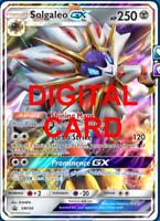 1X Solgaleo GX SM104 Pokemon Online Card TCG PTCGO Digital Card