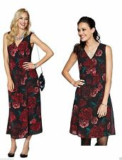 Polyester Empire line Floral Dresses for Women