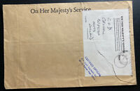 1970 British Field Post office In Hong Kong OHMS Cover To Beeston England