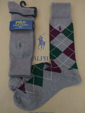 POLO RALPH LAUREN Luxury Sock Men's Argyle Genth Rich Cotton O/S Socks 2p/p BNIP