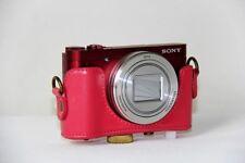 Vintage leather case bag for Sony Cyber-shot DSC-HX90 HX90 DSCHX90 HX90V WX500