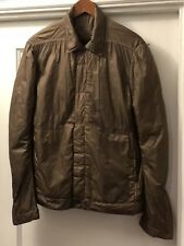 RICK OWENS, WORKER JACKET. LINED. EXCELLENT CONDITION. MUSTARD. SIZE M.
