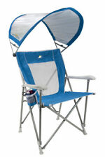 GCI Outdoor Waterside Sunshade Folding Captain's Beach Chair With Adjustable SPF
