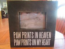 "Primitives by Kathy Wooden Box Frame ""Paw Prints In Heaven..........."""