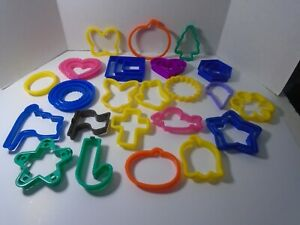 Lot of 34 Plastic Cookie Cutter Various Holidays & More Un-Used Lot #1