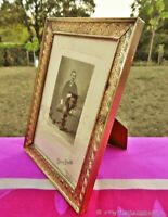 Cadre photo ancien Rafine laiton Art Déco 20 ans XX siècle France Antique photo