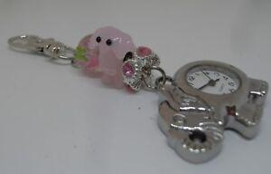 Unique Elephant Glass Beaded Pocket Watch/Bag Charm