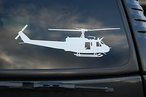 """Huey Helicopter UH-1H Vinyl Sticker Decal Wall Car Window Pick  6"""" To 36"""" (V419)"""