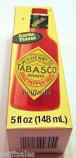 Tabasco Brand Garlic Pepper Sauce - Cayenne Garlic Flavor - 5 oz Glass Bottle
