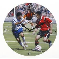 Décorative Horloge Murale Football A Thème Boite de Cadeau Garçon Papa Oncle