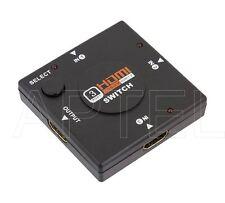 SWITCH HDMI FULL HD 3 IN 1 SPLITTER PER COLLEGARE 3 PERIFERICHE ALLA PORTA HDMI