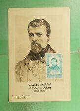 DR WHO 1948 FRANCE MUSEUM SLOGAN CANCEL MARTIN MAXIMUM CARD ART PORTRAIT g19466