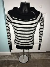 Juniors Bongo Black and Gray Striped Long Sleeve Shirt Size L