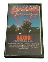 Saxon Power and the Glory cassette tape - 1983 Carrere Records (PZT 38219)