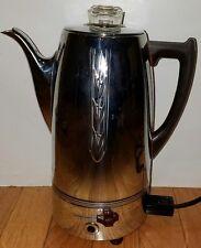 Vintage UNIVERSAL Landers Frary ELECTRIC COFFEE POT Percolator Urn Chrome WORKS