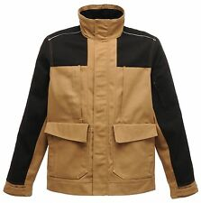 Regatta Mens Workline Jacket Work Wear Heavy Duty Hardwear Outdoor Coat L Midbrown/black