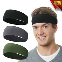 Sport Sweatband Workout Head Band Cycling Headscarf Gym Tennis Hair Band Running