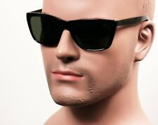 Retro Cholo OG LOC Gangster Street Style Horn Rim Sunglasses G15Gray/Green 308GN