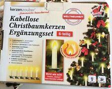 Kerzenzauber Kabellose Christbaumkerzen Ergänzungsset 6-teilig