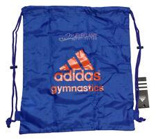 Adidas Gymnastics Gear Bag Gym Sports Tote Drawstring Pack Nylon Sling Blue