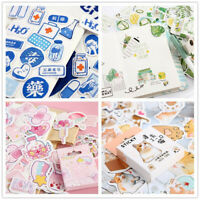 46x Cute Stickers Kawaii Stationery DIY Scrapbooking Diary Label Sticker Funny