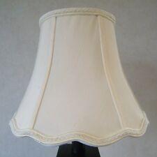 Nicole Luxury Quality Lampshade, Shantung Silk Fabric, Cream.