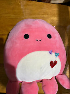 Squishmallows Abby the Pink Octopus 8 inch Plush Toy