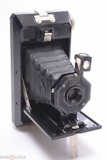 SOHO PILOT BRITISH MADE CAMERA 6X9CM ON 120 ROLL FILM BLACK BAKELITE