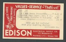 1950 Providence Ri Edison Electric Supply Co Electrical Supplies