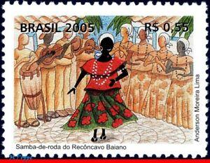 2966 BRAZIL 2005 SAMBA, DANCE, MUSIC, FOLKLORE, MI# 3421, RHM C-2626 MNH