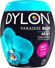 DYLON Washing Machine Fabric Dye Pod - 350g – Paradise Blue (See Description)