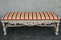 French Country Window Bench Newly Upholstery & Restored