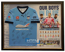 Sydney FC Signed Official Jersey Framed 2017 A-League Champions Alex Brosque