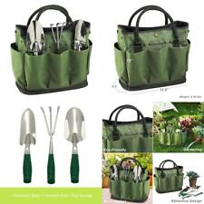Picnic at Ascot Gardening Tote with 3 Stainless Steel Tools- Forest Green