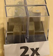 "(10)Plastic Figure & Dice Small Display Box Case-1"" W x 1"" W x 2""T w/Foam Piece"